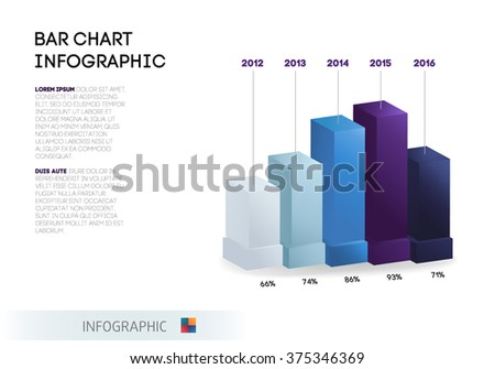 Set Infographic Template Pie Chart Bar Stock Vector