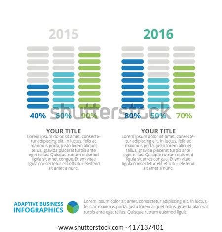 Bar Charts Slide Stock Vector   Shutterstock