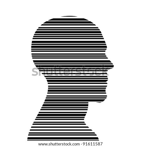 Bar code head - stock vector