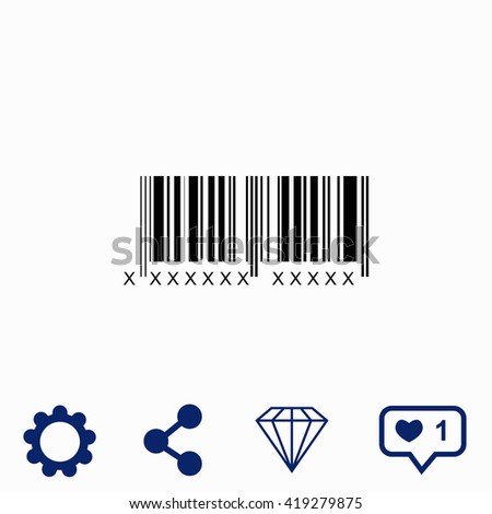 Bar code icon. - stock vector
