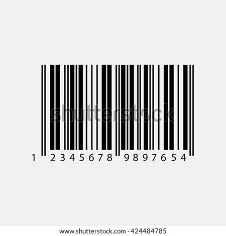 Bar code icon. - stock vector