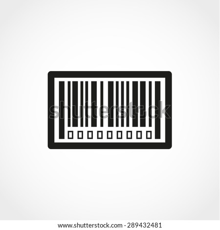 Bar code Icon Isolated on White Background - stock vector