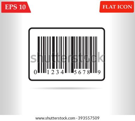 Bar code icon.Shopping icon vector - stock vector