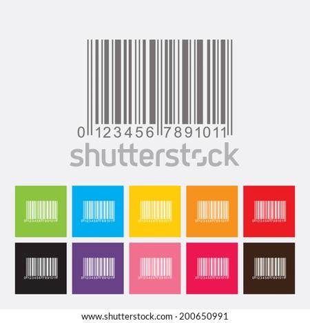 Bar code icon - Vector - stock vector