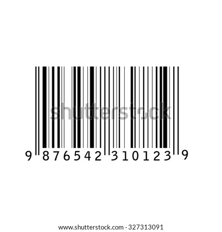 Bar code isolated vector illustration. Barcode icon. Bar code tag, sticker - stock vector