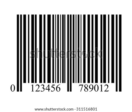 bar code on a white background isolated - stock vector