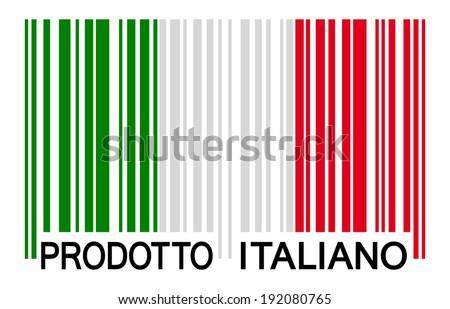 bar code - PRODOTTO ITALIANO - stock vector
