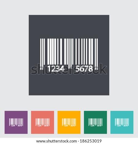 Bar code. Single flat icon. Vector illustration. - stock vector