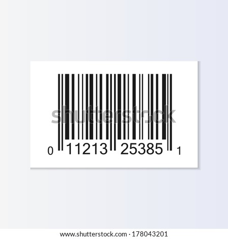 Bar code tag illustration isolated - stock vector
