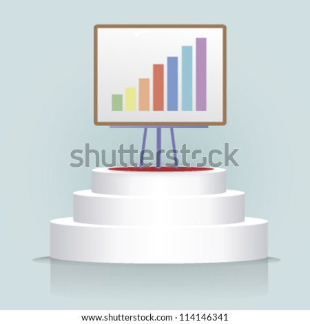 bar graphic background. vector design - stock vector