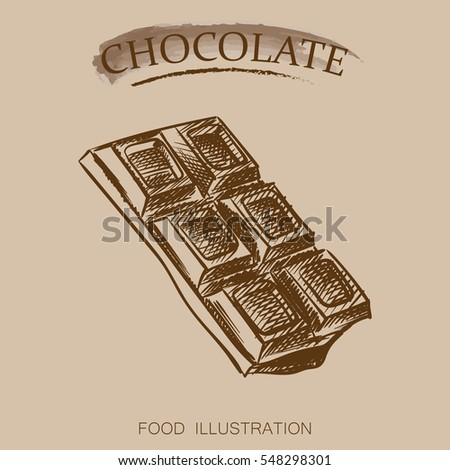 how to draw a chocolate bar instruction