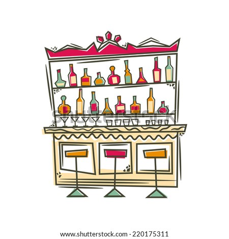Bar. Vector illustration. - stock vector