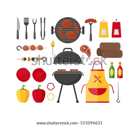 Barbecue Design Elements Barbecue Grill Summer Image