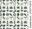 Barbecue and picnic seamless pattern. Vector, EPS 8. - stock