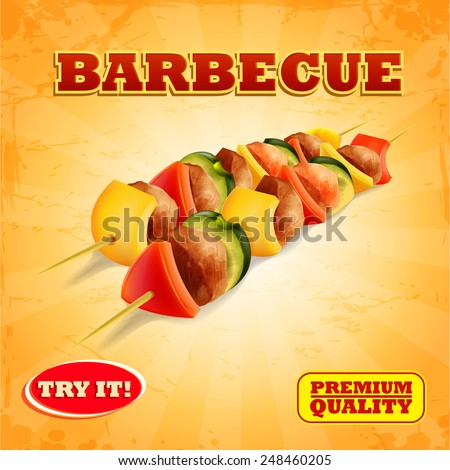 barbecue banner - stock vector