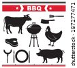 Barbecue design elements. Vector illustration. - stock vector
