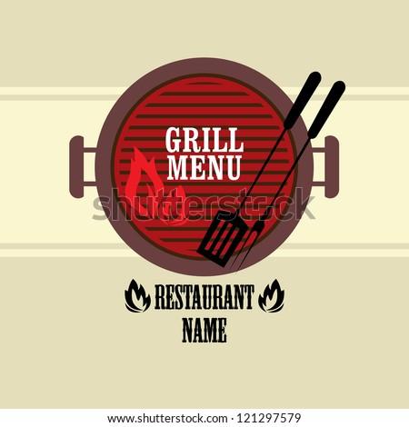 Barbecue Menu Design / Grill Menu Design - stock vector