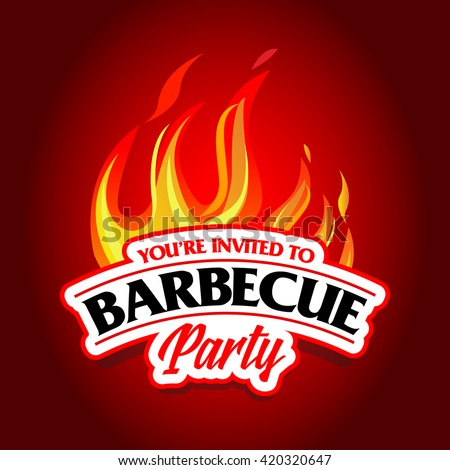 Barbecue Party Design Barbecue Invitation Barbecue Stock Vector
