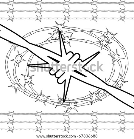barbed wire concept - stock vector