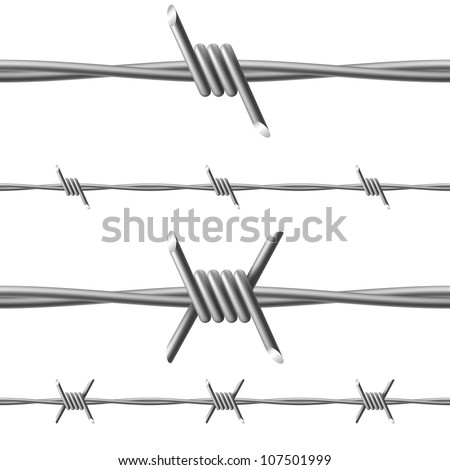 Barbed wire. Illustration on white background for design - stock vector