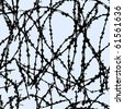 Barbed wire seamless textures.Vector illustration. - stock vector