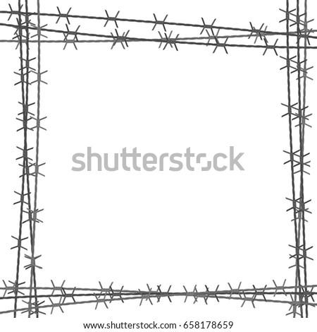 Interesting Barbed Wire Border Oval Clip Art For Design Ideas