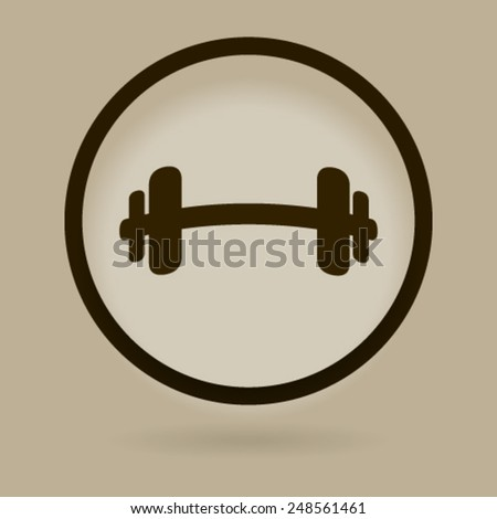 barbell - stock vector
