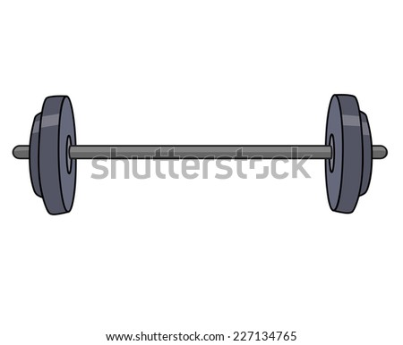 Barbell isolated illustration on white background