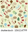 Barbeque pattern - stock vector