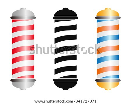 barber pole - stock vector