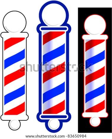 Barber pole - stock vector