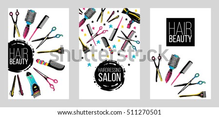 barber shop haircut beauty salons banners stock vector royalty free