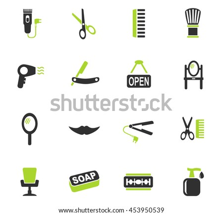 barbershop web icons for user interface design - stock vector
