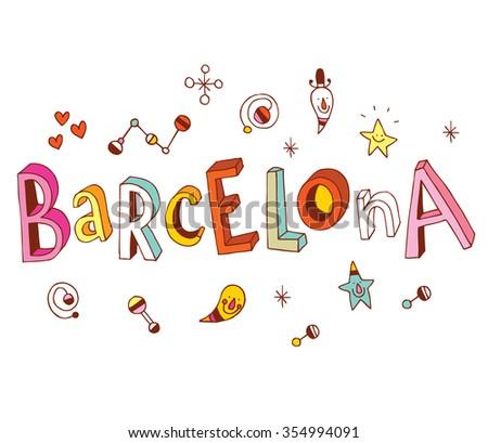 Barcelona - stock vector