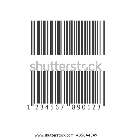 Barcode and number icon. Barcode and number Vector isolated on white background. Flat vector illustration in black. EPS 10 - stock vector