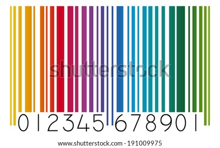 Barcode colored - stock vector