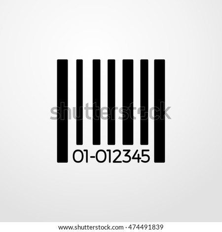 barcode icon. Flat design