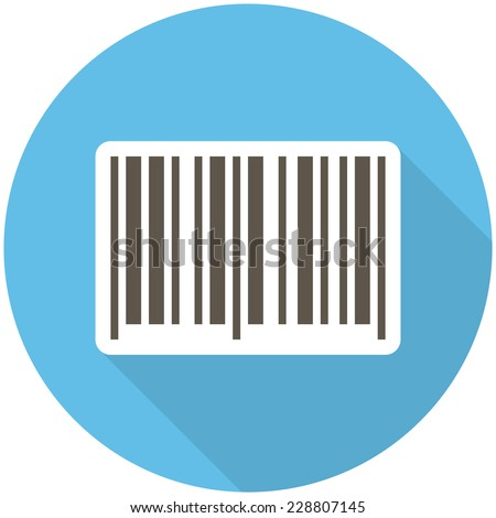 Barcode icon (flat design with long shadows)