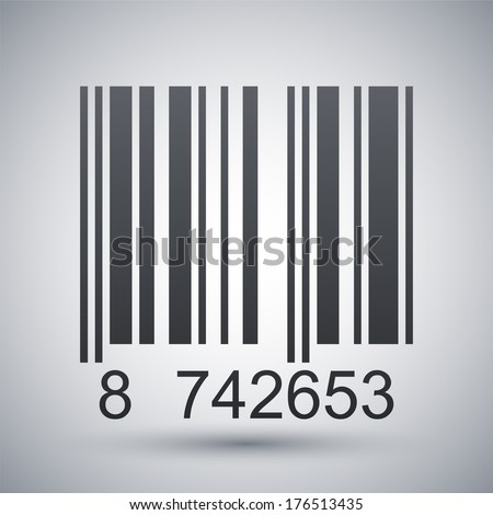 Barcode icon, vector illustration - stock vector