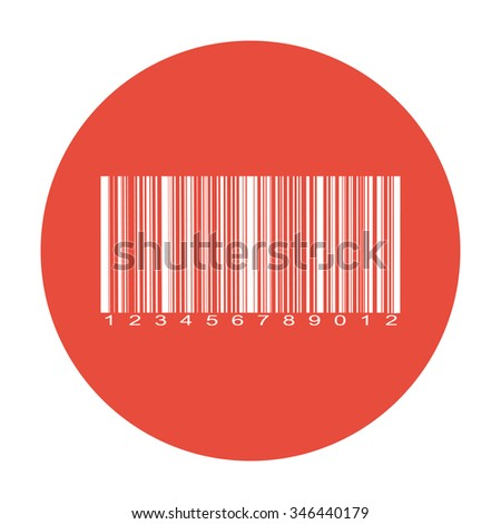 Barcode icon, vector illustration. Flat design style eps 10