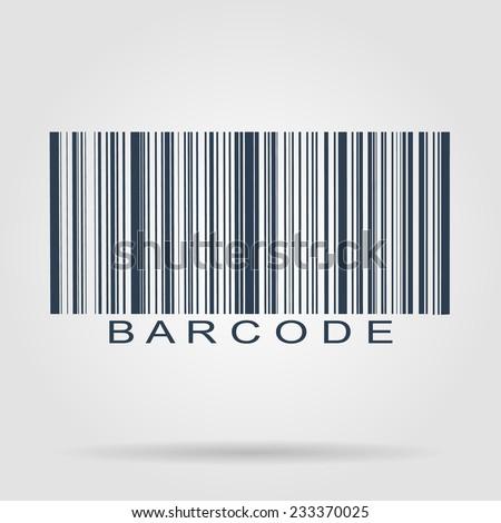 Barcode icon, vector illustration. Flat vector illustrator Eps - stock vector