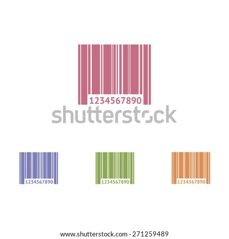 Barcode icons vector on white background - stock vector