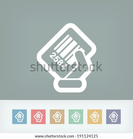 Barcode label - stock vector