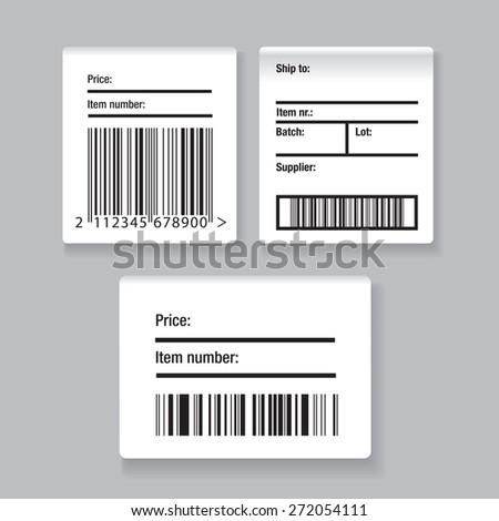 Barcode label set - stock vector