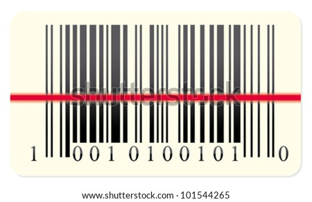 Barcode scanning - stock vector