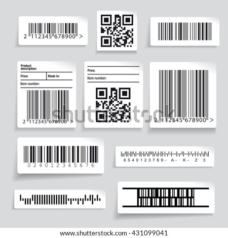 Barcode sticker set vector - stock vector