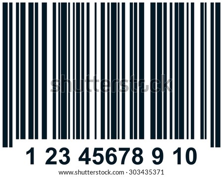 Barcode vector simple illustration - stock vector