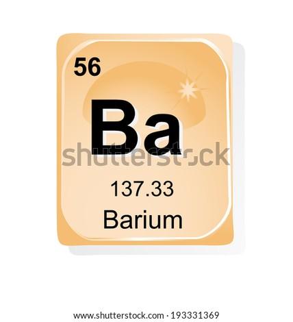 Barium chemical element with atomic number, symbol and ... Barium Symbol