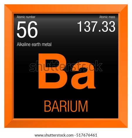 Barium Symbol Element Number 56 Periodic Stock Vector 517676461
