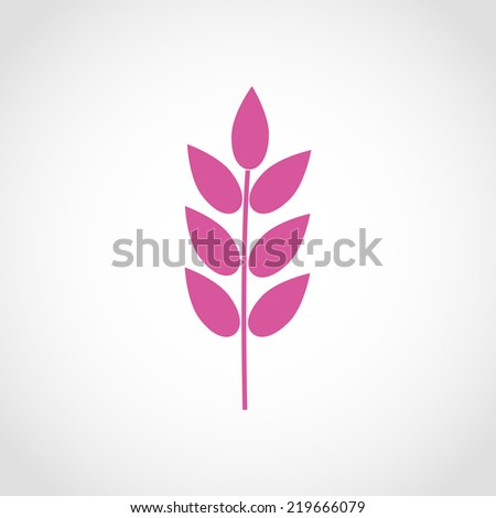 Barley Icon Isolated on White Background - stock vector